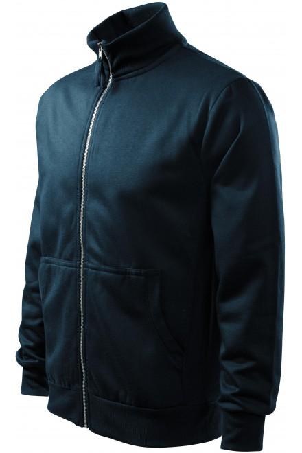 Men's sweatshirt without hood Navy blue