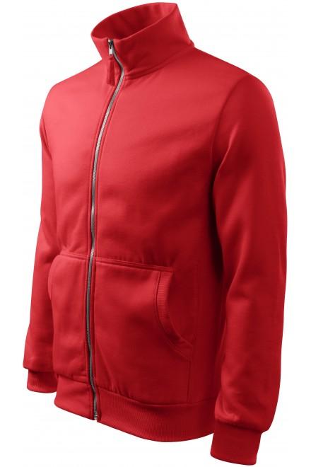 Men's sweatshirt without hood Red