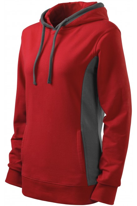 Ladies stylish sweatshirt with hood Red