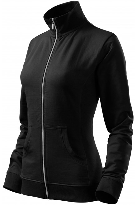 Ladies sweatshirt without hood Black