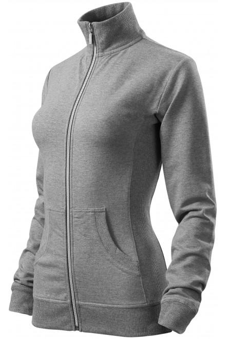 Ladies sweatshirt without hood Dark gray melange