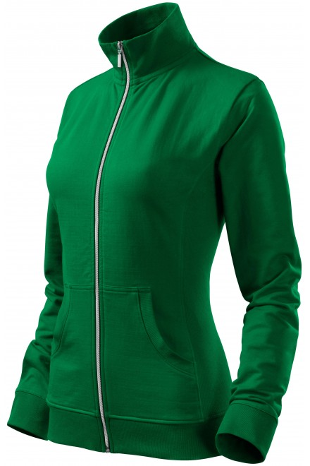 Ladies sweatshirt without hood Kelly green