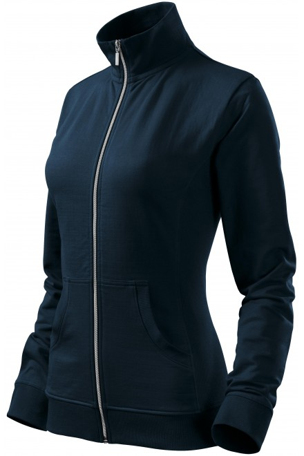 Ladies sweatshirt without hood Navy blue