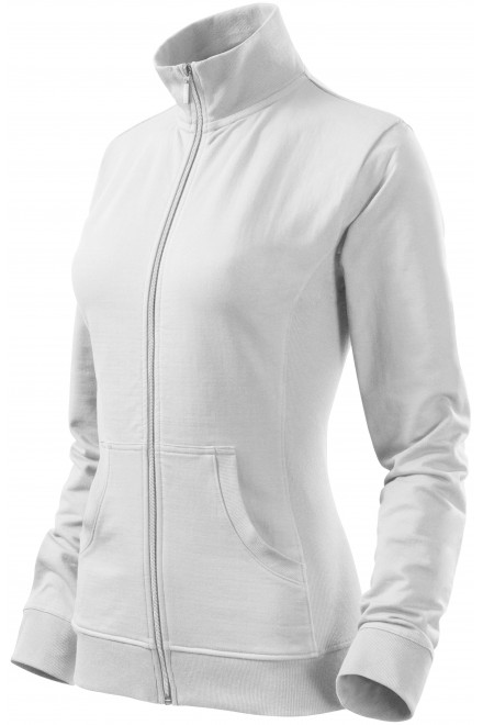 Ladies sweatshirt without hood White