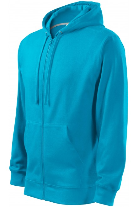 Men's sweatshirt with a hood Bblue atol