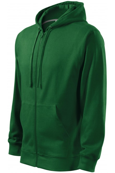 Men's sweatshirt with a hood Bottle green