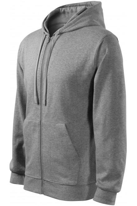 Men's sweatshirt with a hood Dark gray melange