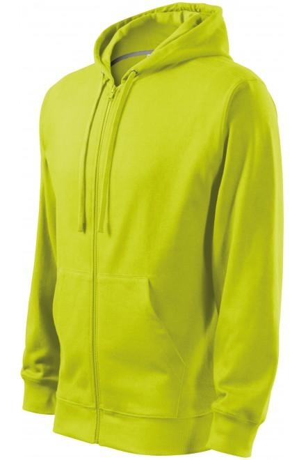 Men's sweatshirt with a hood Lime green