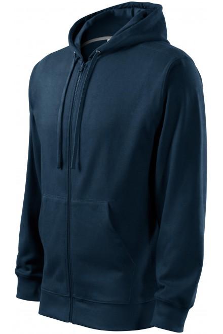 Men's sweatshirt with a hood Navy blue
