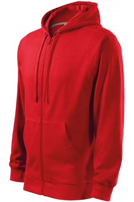 Men's sweatshirt with a hood Red
