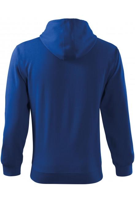 Royal blue men's sweatshirt with a hood