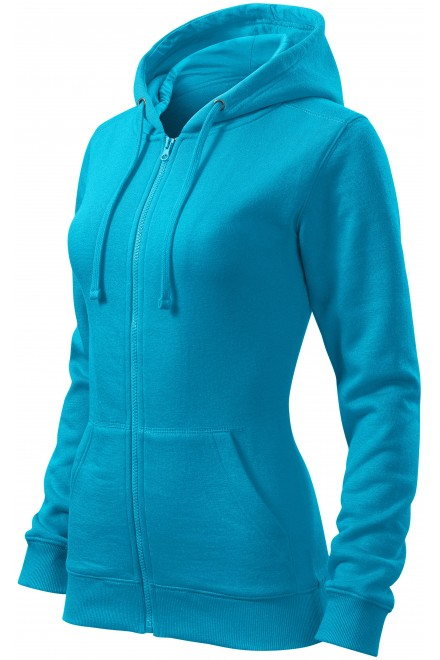 Ladies hoodie with a hood Bblue atol