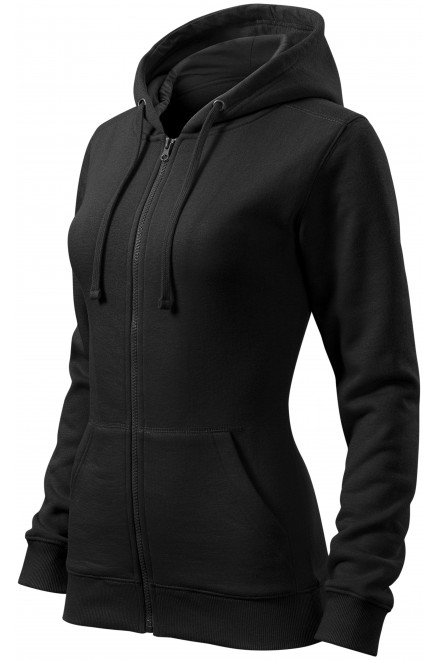 Ladies hoodie with a hood Black