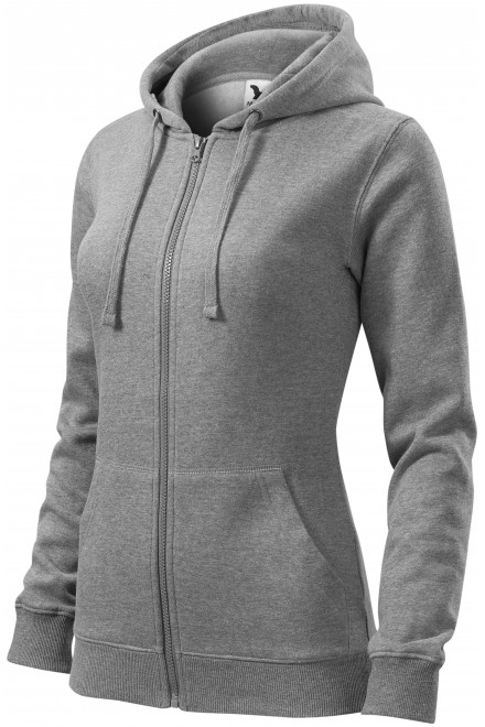 Ladies hoodie with a hood Dark gray melange