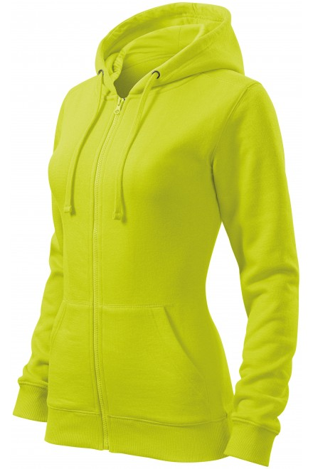 Ladies hoodie with a hood Lime green