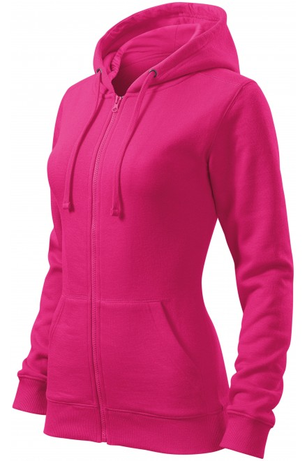 Ladies hoodie with a hood Magenta