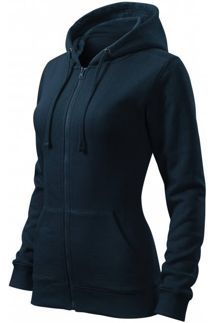 Ladies hoodie with a hood Navy blue