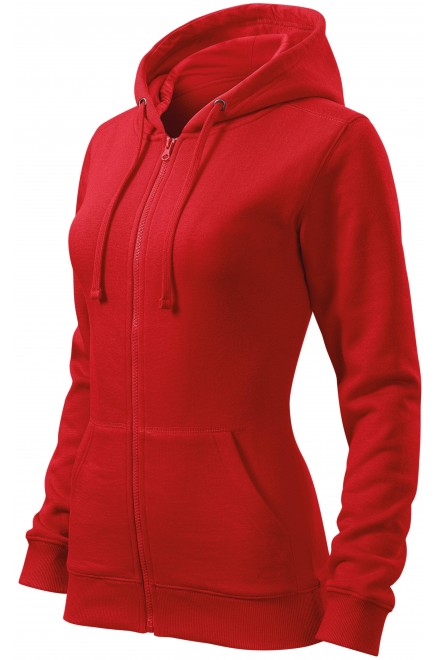 Ladies hoodie with a hood Red