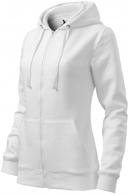 Ladies hoodie with a hood White