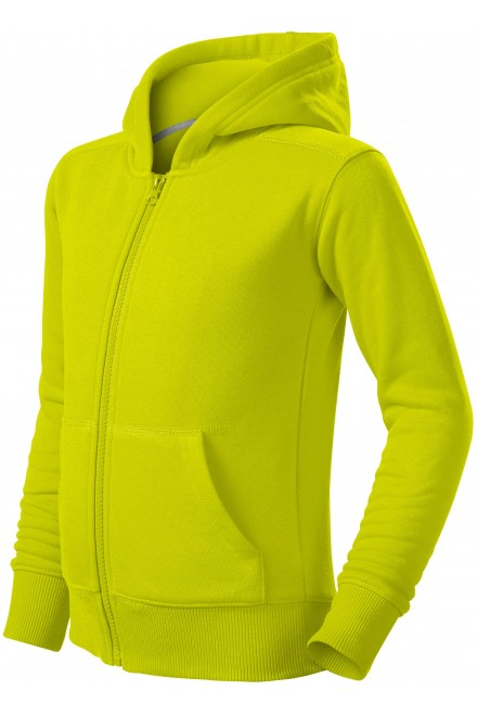 Children's sweatshirt with hood Lime green