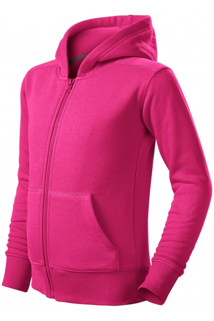Children's sweatshirt with hood Magenta