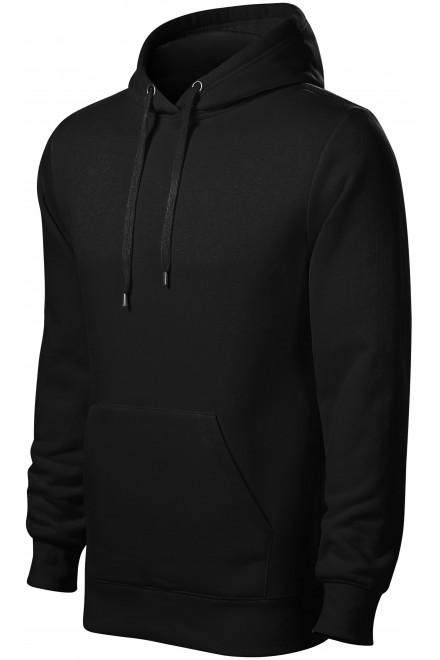 Men's sweatshirt with hood without zip Black
