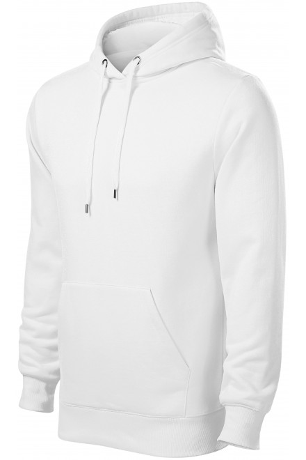Men's sweatshirt with hood without zip White