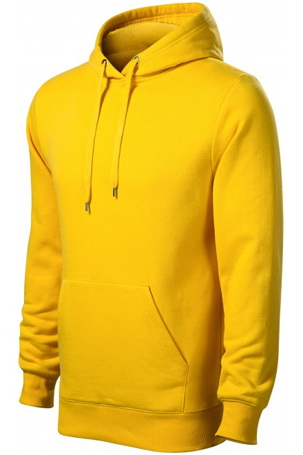 Men's sweatshirt with hood without zip Yellow