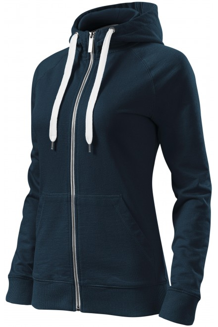 Ladies contrasting sweatshirt with a hood Black