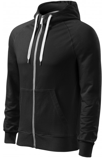 Men's contrasting sweatshirt with a hood Black
