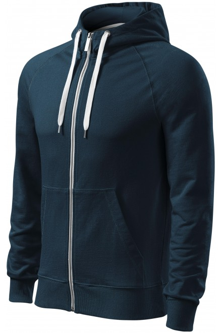 Men's contrasting sweatshirt with a hood Navy blue