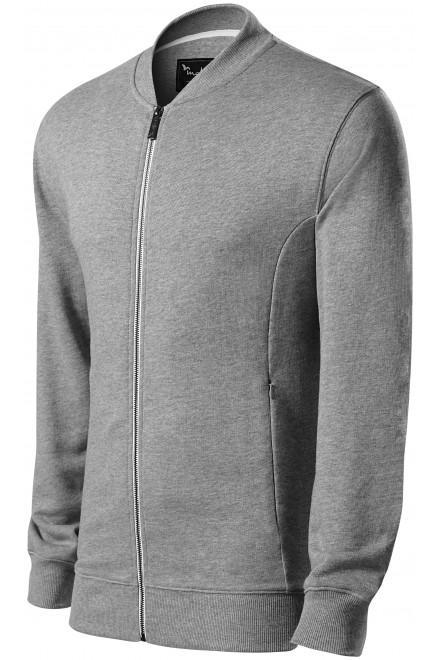 Men's sweatshirt with hidden pockets Black
