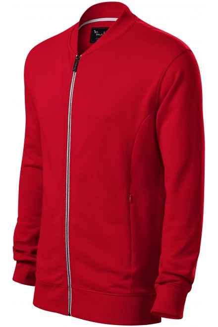 Men's sweatshirt with hidden pockets Formula red