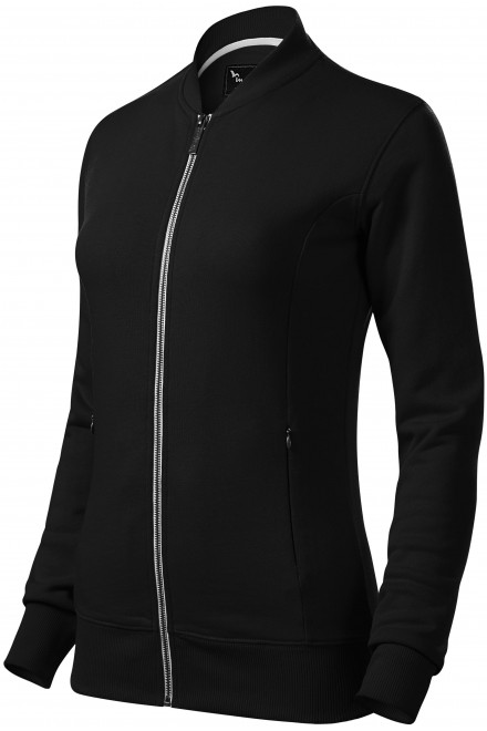 Ladies sweatshirt with hidden pockets Black