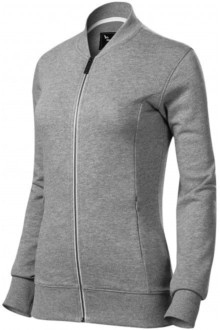 Ladies sweatshirt with hidden pockets Black