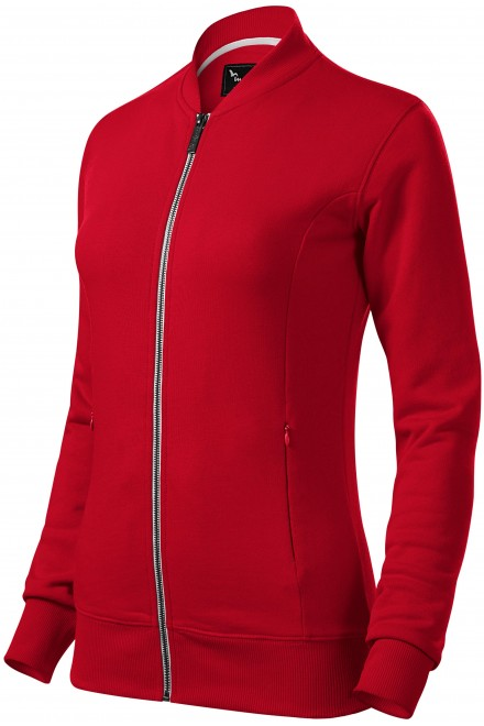 Ladies sweatshirt with hidden pockets Formula red