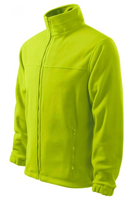 Men's fleece jacket Lime green