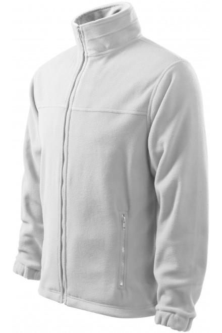 Men's fleece jacket White
