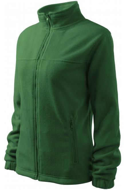 Ladies fleece jacket Bottle green