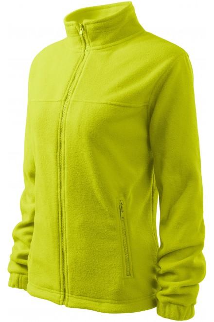 Ladies fleece jacket Lime green