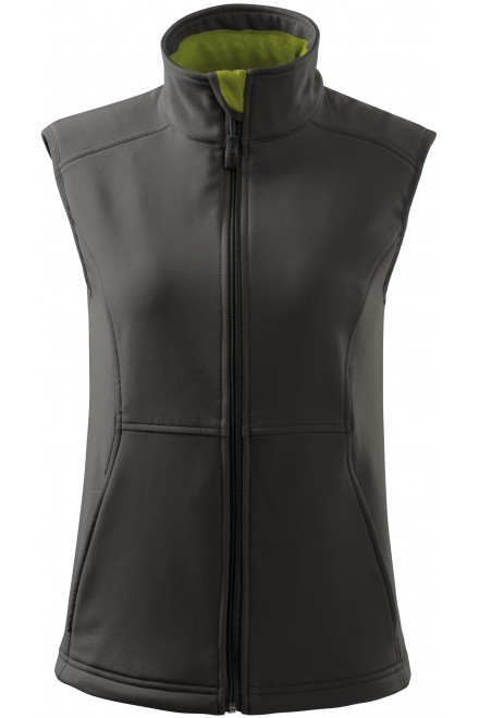 French blue ladies close fitting vest