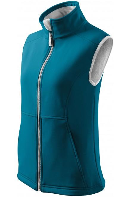 Ladies close fitting vest Turquoise