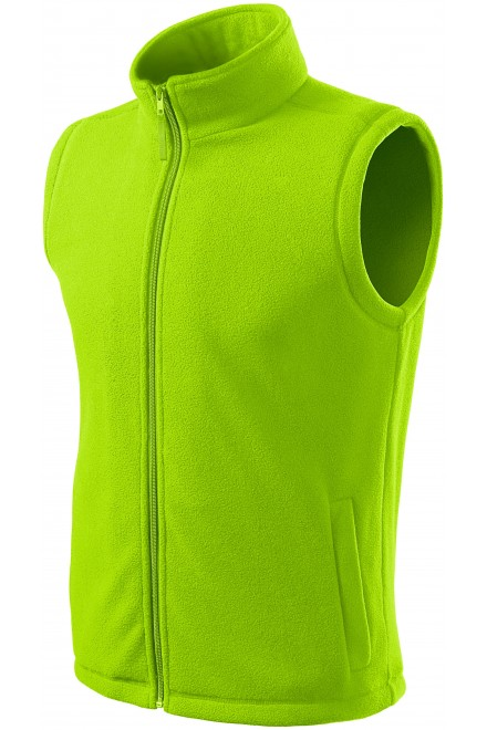 Classic fleece vest Lime green