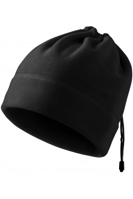 Hat with lace Black