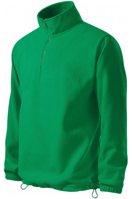 Men's fleece jacket Kelly green