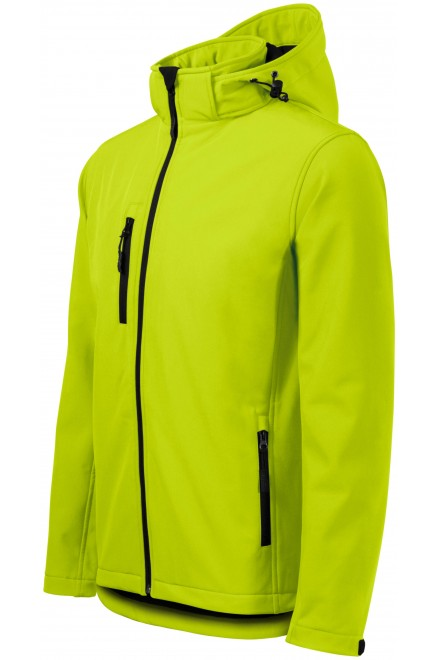 Men's jacket, wind and rain resistant Lime green