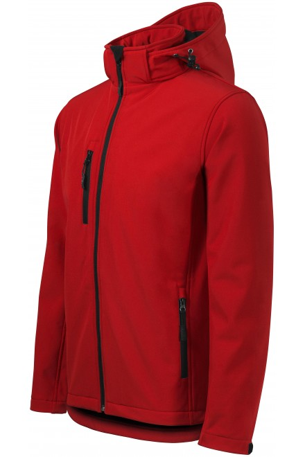 Men's jacket, wind and rain resistant Red