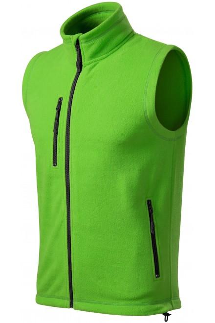 Fleece vest contrast Apple green