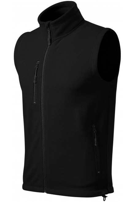 Fleece vest contrast Black