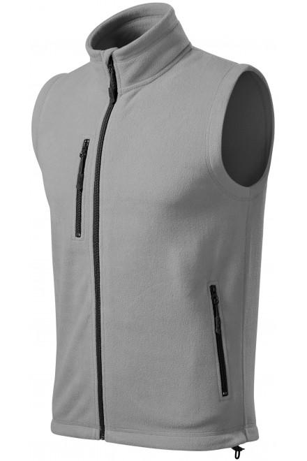 Fleece vest contrast Light gray
